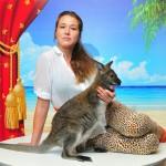 Фотосессия с кенгуру